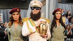 Actor Sacha Baron Cohen, dressed as his character General Aladeen