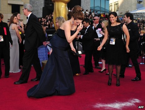Tina Fey on the Oscar red carpet