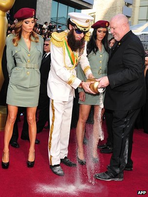 Sacha Baron Cohen on the red carpet