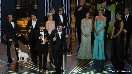 The cast of the Oscar-winning best picture The Artist