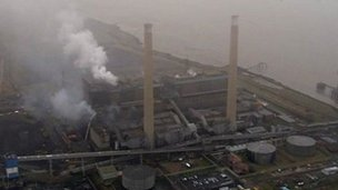 Tilbury power station fire
