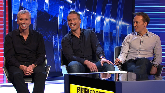 Alan Pardew, Paul Robinson, and Lee Dixon