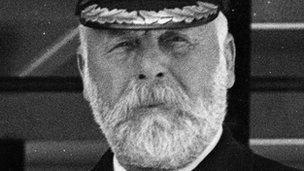 Captain Edward John Smith onboard the Olympic. Photo: Getty Images