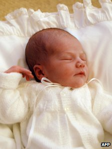 Princess Estelle. Sweden's newest royal, second in line to the throne after her mother Crown Princess Victoria