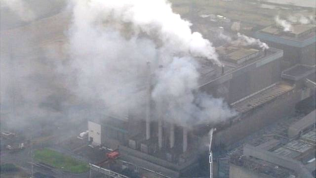 Fire at Tilbury power station in Essex