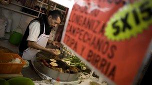 Mexican taco vendor