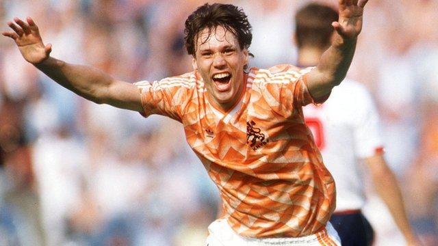 Euro 1988 winner Marco Van Basten
