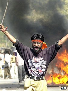 Rioter in Gujarat - February 2002