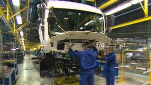 Longton truck being built