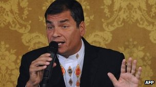 Ecuador's President Rafael Correa on 27 February 2012