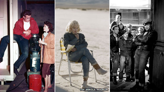 James Dean, Marilyn Monroe and Marlon Brando (images from Rex Features and Magnum Photos)