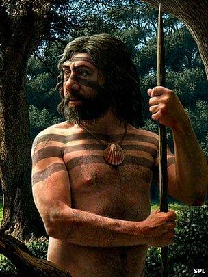Neanderthal artist's impression