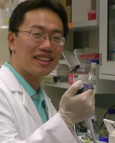 Jimmy Lin in his lab