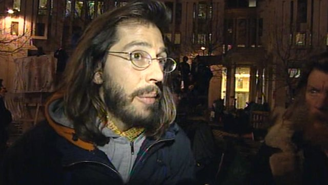 Occupy London protester George Barda