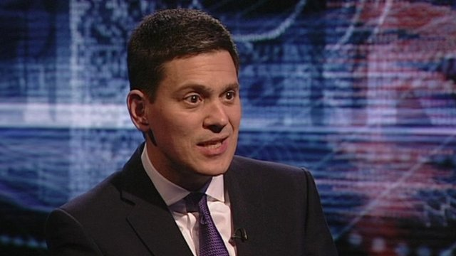 Former UK Foreign Minister David Miliband