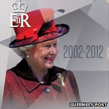 Guernsey Post stamps celebrating the Queen's Diamond Jubilee