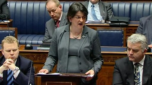 Enterprise Minister Arlene Foster responded to the debate on a decade of centenaries