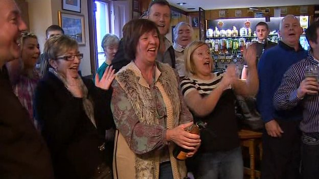 Villagers toast The Shore's win
