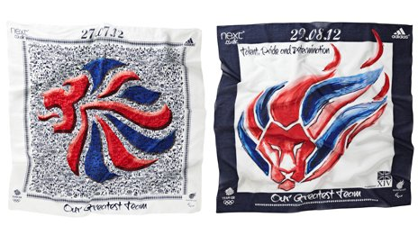 Designs for the Team GB and ParalympicsGB supporters' scarves