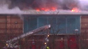 Fire at Abbey Leisure Centre, Selby