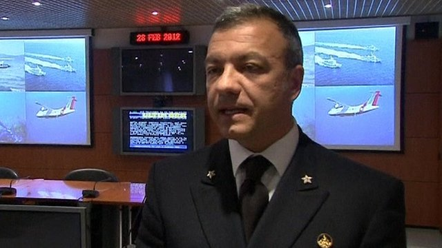 Italian coastguard official Captain Cosimo Nicastro
