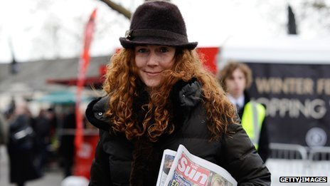 Rebekah Brooks arrives at Newbury racecourse in November 2011