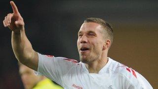 Cologne striker Luka Podolski
