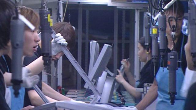 Factory workers in Korea