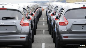 Nissan cars ready for export
