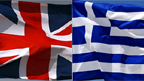 Union flag and Greek flag