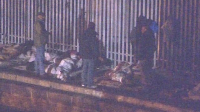 Illegal immigants sleeping rough in London