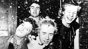 The Sex Pistols in 1976. Copyright: 1976 EMI Records Limited