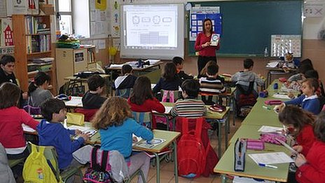 Classroom in Cervantes school (29 Feb 2012)