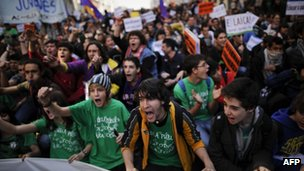 Demonstration in Madrid 29 February 2012