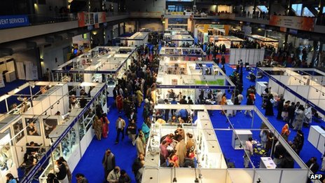Indian trade fair in Pakistani city of Lahore (February 2012)