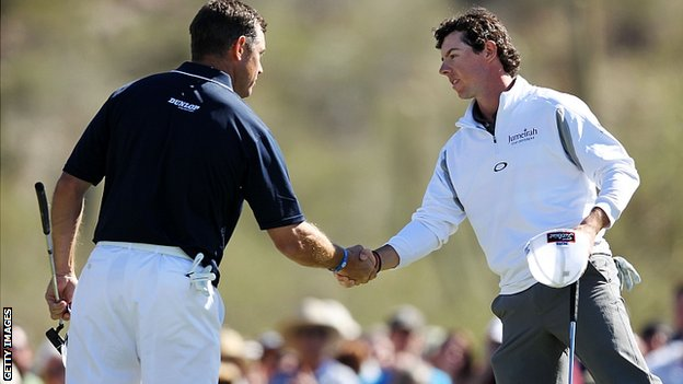 Lee Westwood and Rory McIlroy