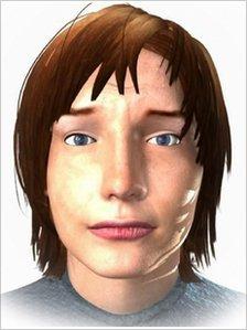 Computer-simulated human
