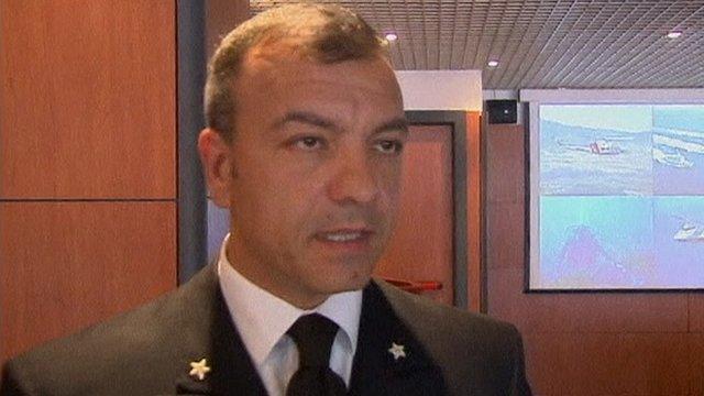 Italian coastguard official Captain Cosimo Nicastro