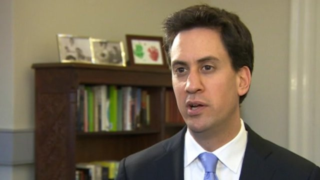 The Labour leader Ed Miliband