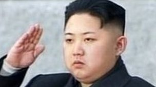 Grab from North Korean TV on 28 December 2011 shows Kim Jong-Un saluting during his father Kim Jong-Il&#039;s funeral at Kumsusan Memorial Palace in Pyongyang