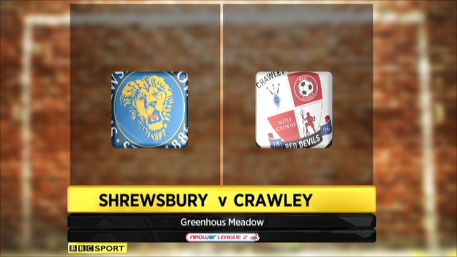Shrewsbury 2-1 Crawley