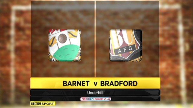Barnet 0-4 Bradford