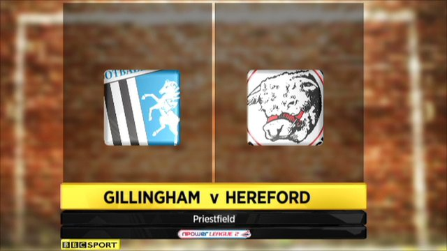 Gillingham 5-4 Hereford