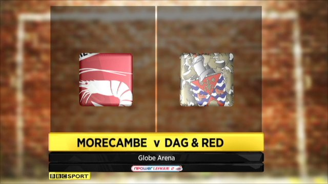Morecambe 1-2 Dag & Red