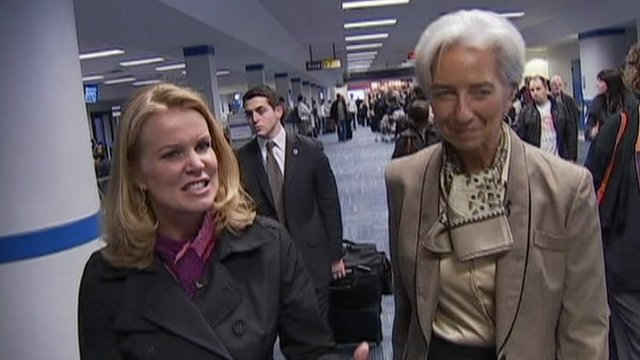Katty Kay and Christine Lagarde 