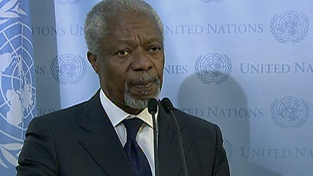 Kofi Annan, UN-Arab League Joint Special Envoy for Syria