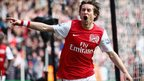 Tomas Rosicky gives Arsenal the lead at the Emirates Stadium