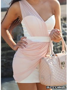 Pink dress by Glitzy Angel