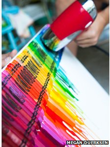 melted crayon art by Megan Duerksen