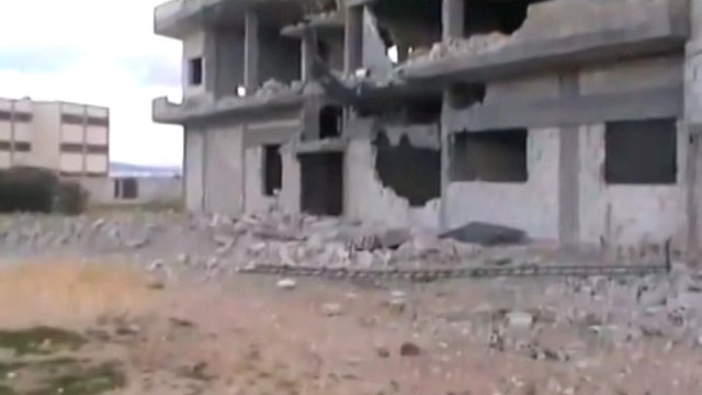 Aftermath of shelling in Baba Amr, Wednesday